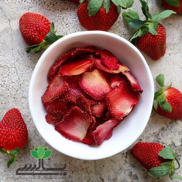 فروش عمده توتفرنگی خشک