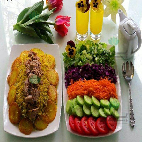 عکس سبزی-پلو-با-ماهی