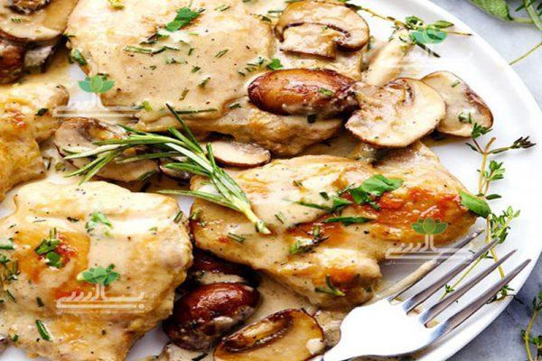 خوراک-مرغ-و-قارچ-رژیمی-