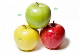 عکس سیب زرد،سرخ و سبز