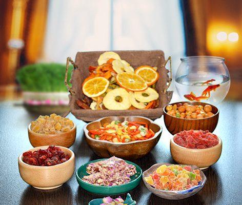 پذیرایی عید با میوه خشک